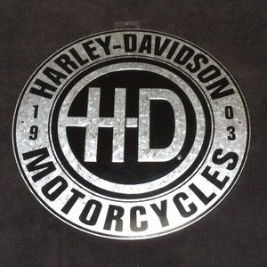 Harley Davidson tin metal RARE design style sign